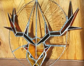 Handmade Game of Thrones Baratheon stained glass. Buck.