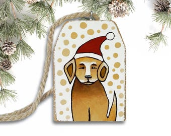 Christmas Ornament, Dog Ornament, Handmade Ornament, Christmas Tree Ornament, Dog Art, Dog Lover Gift with Gift Box