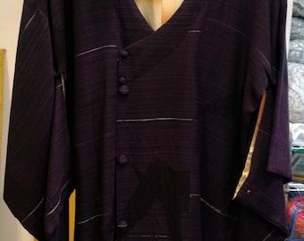 Vintage Kimono in Deep Purple