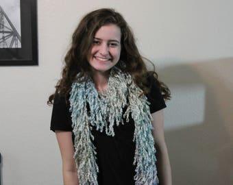 blue woolie scarf