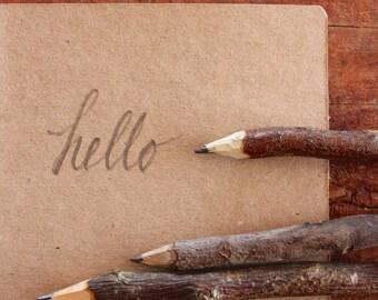 Handmade Twig Pencil - Rustic Wooden Pencil - Made in Australia