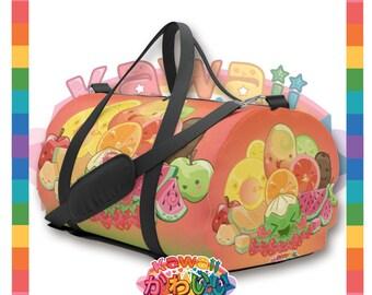 Kawaii Universe - Cute Classic Fruits Group Travel Bag / Duffel