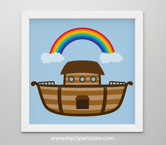 clipart noah s ark bible stories ship boat single rh etsy com noah's ark clip art images noah's ark clipart