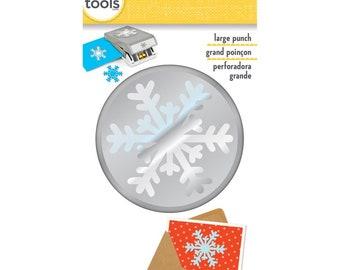 ARCTIC SNOWFLAKE Large Slim Profile Paper Punch - EK Success