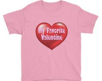 My Favorite Valentine Youth Short Sleeve T-Shirt