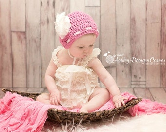 Crochet Pattern Sugar Twist Bonnet (Newborn - 2 Years) - PDF - Instant Digital Download