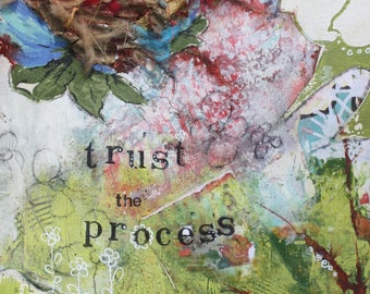 Trust the Process, 8x10 print of original mixed-media collage