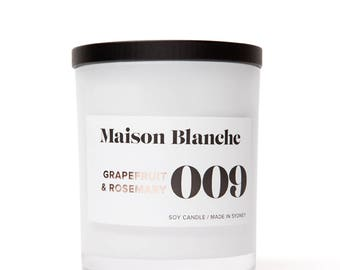 009 Grapefruit & Rosemary Soy Candle // 3 Sizes // Made in Sydney