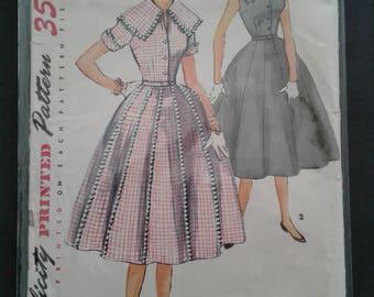 50s Simplicity pattern circle skirt dress 4967 Size 15