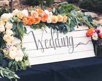 Wedding Sign; Rustic Wooden Sign
