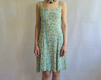 Vintage Floral Tank Mini Dress