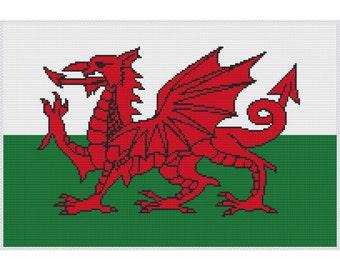 Welsh Dragon Cross Stitch PDF Pattern, Chart