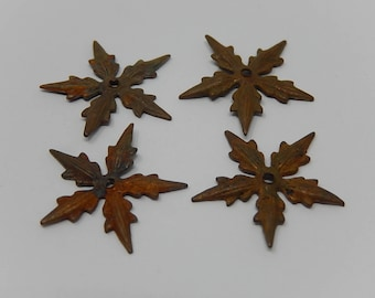 Set of four stars, buttons, hooks, stencils, copper decorations, free shipping!
