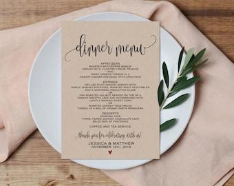 "100 wedding menu 5.5"" or 4.25"", custom wedding menus, simple menus, menu, wedding details, wedding, stationary, menu cards, invitations card"