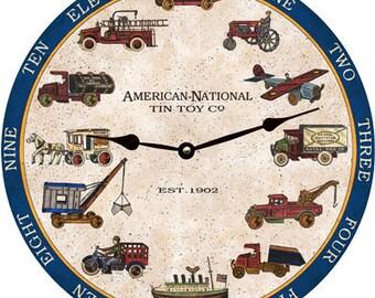 American National Tin Toy Clock