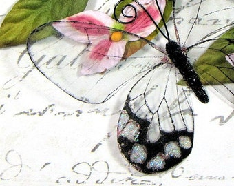 Glass Butterfly Embellishments G7