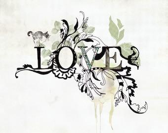 Typographic Print, Love Print, Typography Poster, Bedroom Decor, Love Poster, Typographic Art, Motivation Art