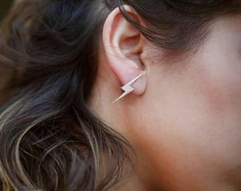 14K Gold Flash Earrings/Hand-made Gold Flash Earrings / Gold Earrings Available in 14k Gold, White Gold or Rose Gold