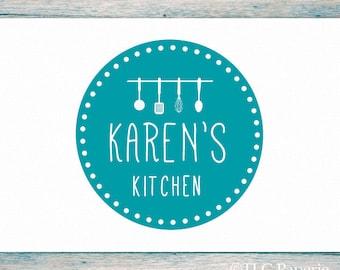 Kitchen Logo Design, Custom Logo, Utensils Logo, Business Logo, Premade Logo, Restaurant Logo, Cooks Logo, Chef Logo