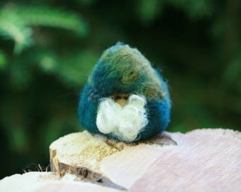 Unique Handcrafted Needle Felted Orcas Island Gnome Inspired by Nature