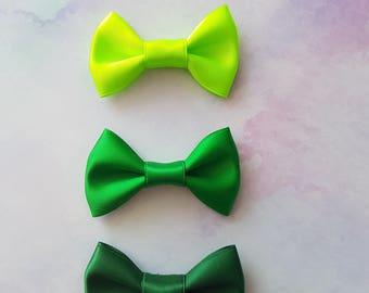 Green Goddess Mini Hair Bow Set