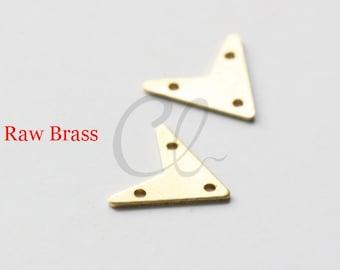 40pcs Raw Brass Triangle Charm - 12mm (1917C-Q-281)