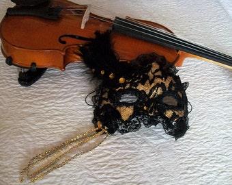 Mask Black Lace mask masquerade mask Carnival mask Venetian mask masquerade Loup