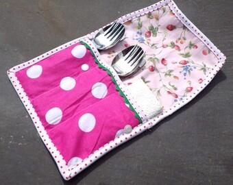 Cutlery Roll, Napkin Roll, Picnic Cutlery, Children's cutlery case, Cutlery Case, Knife Fork Spoon Roll