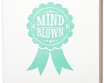 Mind Blown congratulation letterpressed card