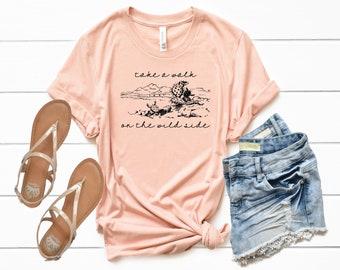 Cactus Shirt, Bohemian Shirt, Fall Shirt, Desert Shirt, Western Shirt, Trendy Shirt, Hippie Shirt, Gypsy Shirt, Cactus Love, Country Shirt