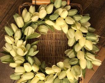 Green Tulip Wreath