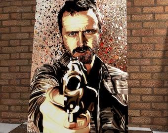 Jesse Pinkman  Giclée Print Onto Canvas  - Breaking Bad - Aaron Paul - Stunning Canvas - Breaking Bad Artwork