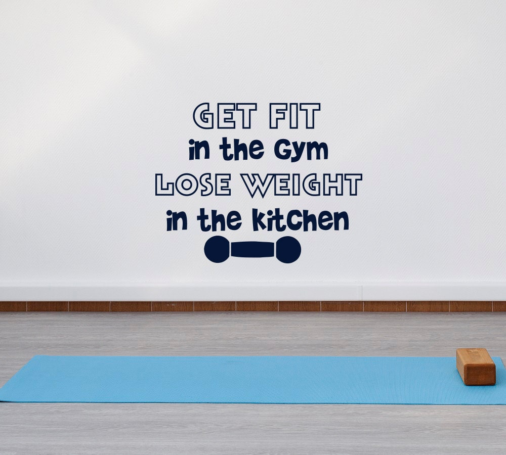 Gym Wall Decal Motivational Quotes Get Fit In The Gym Lose - Wall decals motivational quotes