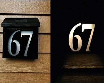 Solar-Powered House Numbers