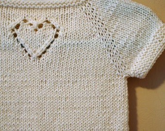 Hand Knitting Pattern- Sweetheart DK weight Baby Cardigan