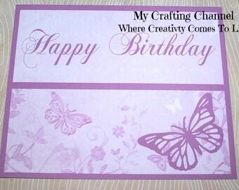 Set of 12 Butterflies #1 Placemat Sets,Butterflies Birthday,Placemats,Birthday Placemats,Purple Butterflies