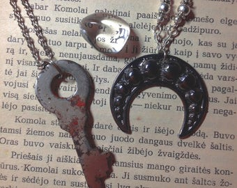 Necklace: Dark Moons and Enchanted Keys
