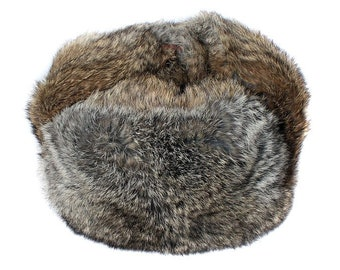 Brown soft rabbit fur modern winter hat ushanka 6b5fb699963
