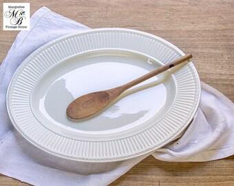 White Ironstone Platter, Wedgewood, Made in England, Etruria & Barlaston, White Serving Platter