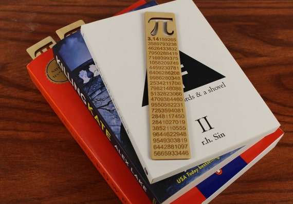 Pi, Wooden Bookmark,  Russian Birch, Laser engraved, Paul Szewc