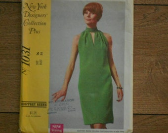 vintage 1968 McCalls pattern 1031 NY designers collection plus Geoffrey Beene misses dress sz 16 b38