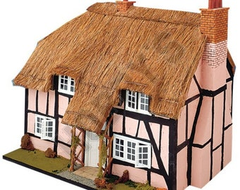 12th Scale DOLLS HOUSE PLAN to make a Thatched Cottage, Instruction Sheets x 3, Brand New