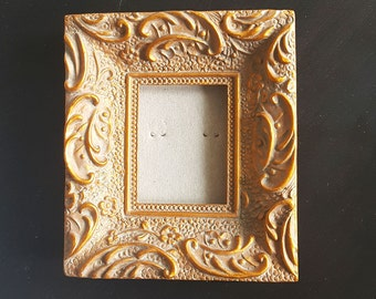 Vintage Photo frame, rectangular Shape,Vintage Style, MINI Photo frame, Table Decor, elegant Style, gold-copper shades, small photo frame
