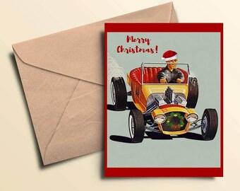 Merry Christmas Hot Rod Cards