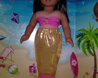 """Mermaid outfit made to fit 18"""" dolls like the American Girl doll"""