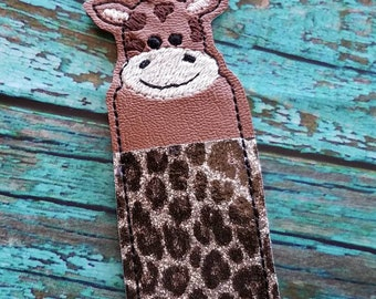 Giraffe Lip Balm Holder with Sparkle Spots
