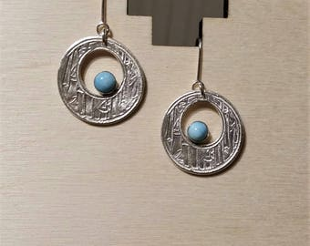 Larimar Earrings in Sterling