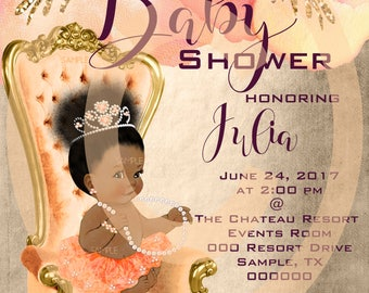 Black Baby Shower Invites African American Baby Shower Invitation