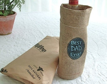 Liquor or Wine Bottle Bag with Re-Useable Chalkboard labels,  suggested by FOOD & WINE magazine