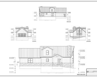 Full set of Two Story 3-bedroom building plans 1,720 sq ft